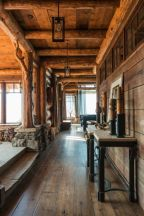 Amazing rustic mountain farmhouse decorating ideas (5)