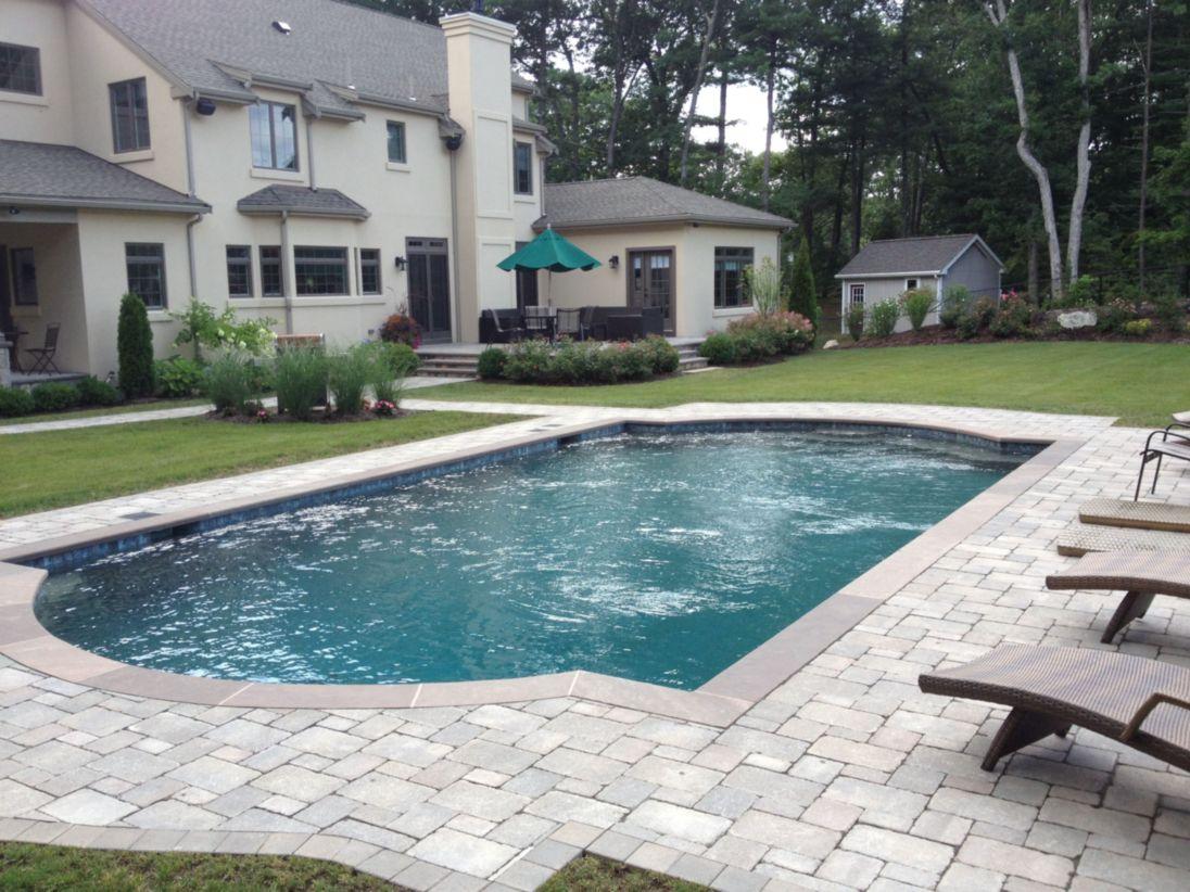 Beautiful small outdoor inground pools design ideas 10