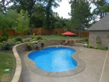 Beautiful small outdoor inground pools design ideas 29