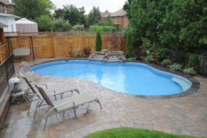 Beautiful small outdoor inground pools design ideas 33