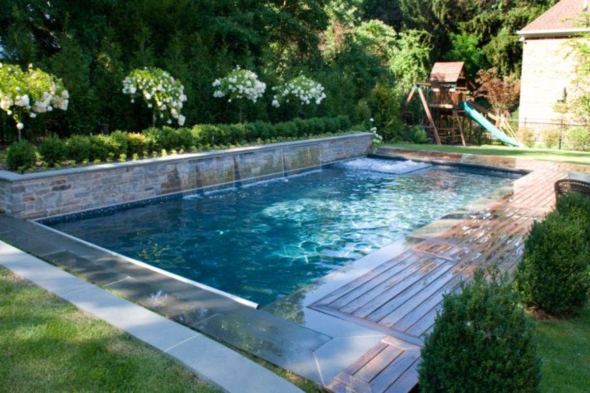 Beautiful small outdoor inground pools design ideas 43