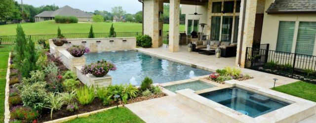 Beautiful small outdoor inground pools design ideas 44
