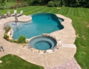 Beautiful small outdoor inground pools design ideas 46