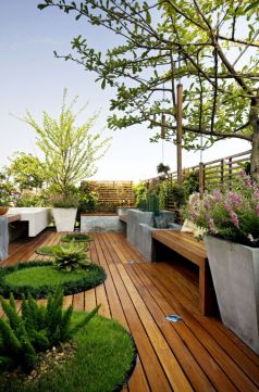 Best and beautiful tree ring planter ideas 06