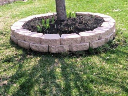 Best and beautiful tree ring planter ideas 07