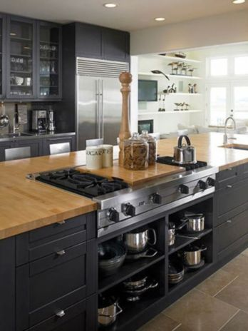 Creative kitchen islands stove top makeover ideas (25)
