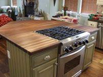 Creative kitchen islands stove top makeover ideas (29)