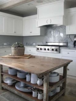 Creative kitchen islands stove top makeover ideas (31)