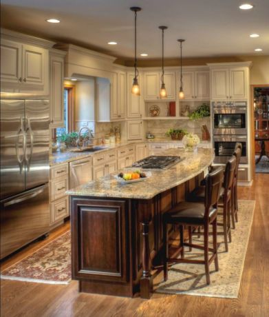 Creative kitchen islands stove top makeover ideas (39)