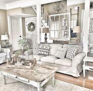 Elegant farmhouse living room design decor ideas (17)