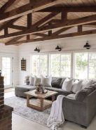 Elegant farmhouse living room design decor ideas (19)