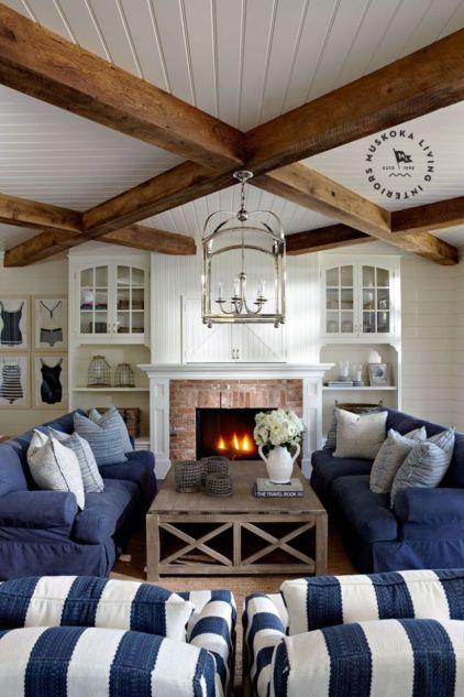 Elegant farmhouse living room design decor ideas (20)