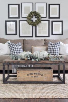 Elegant farmhouse living room design decor ideas (33)