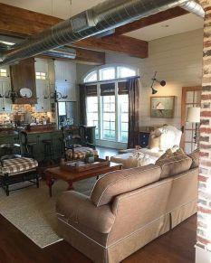 Elegant farmhouse living room design decor ideas (6)