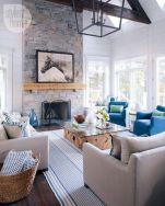 Elegant farmhouse living room design decor ideas (8)