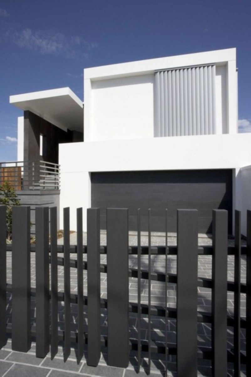 Exclusive and modern minimalist fence design ideas 11
