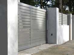 Exclusive and modern minimalist fence design ideas 37