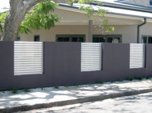 Exclusive and modern minimalist fence design ideas 42