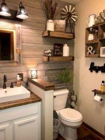 Gorgeous farmhouse master bathroom decorating ideas (14)
