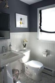 Gorgeous farmhouse master bathroom decorating ideas (28)