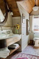 Gorgeous farmhouse master bathroom decorating ideas (9)