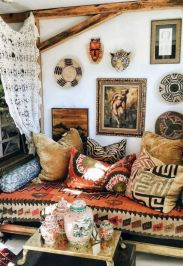 Inspired boho bedroom decorating ideas on a budget 07