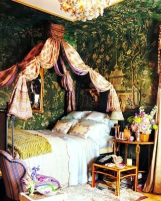 Inspired boho bedroom decorating ideas on a budget 16