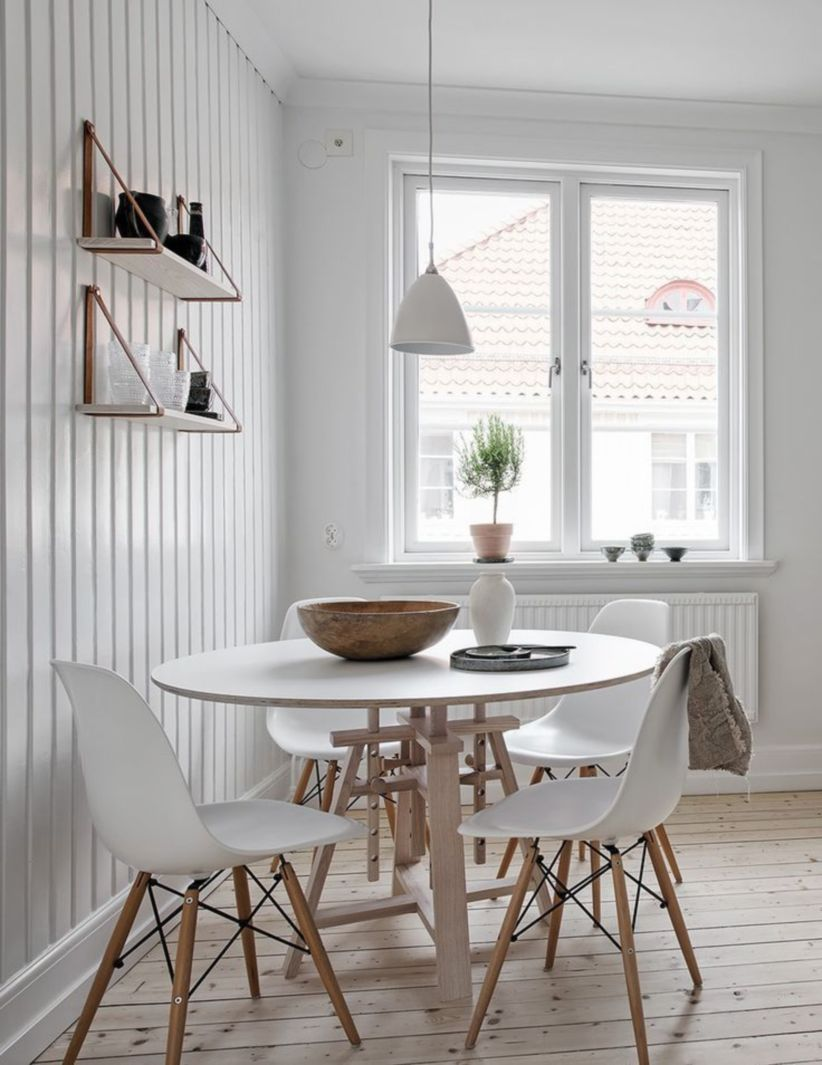 Luxury scandinavian taste dining room ideas (21)