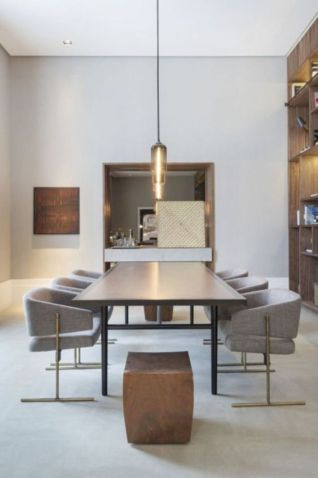 Luxury scandinavian taste dining room ideas (24)
