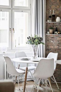 Luxury scandinavian taste dining room ideas (31)