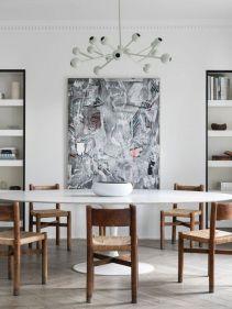 Luxury scandinavian taste dining room ideas (8)