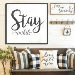 Simply and cozy farmhouse wall decor ideas (22)