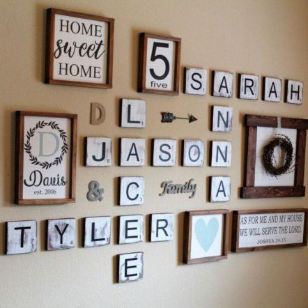 Simply and cozy farmhouse wall decor ideas (29)