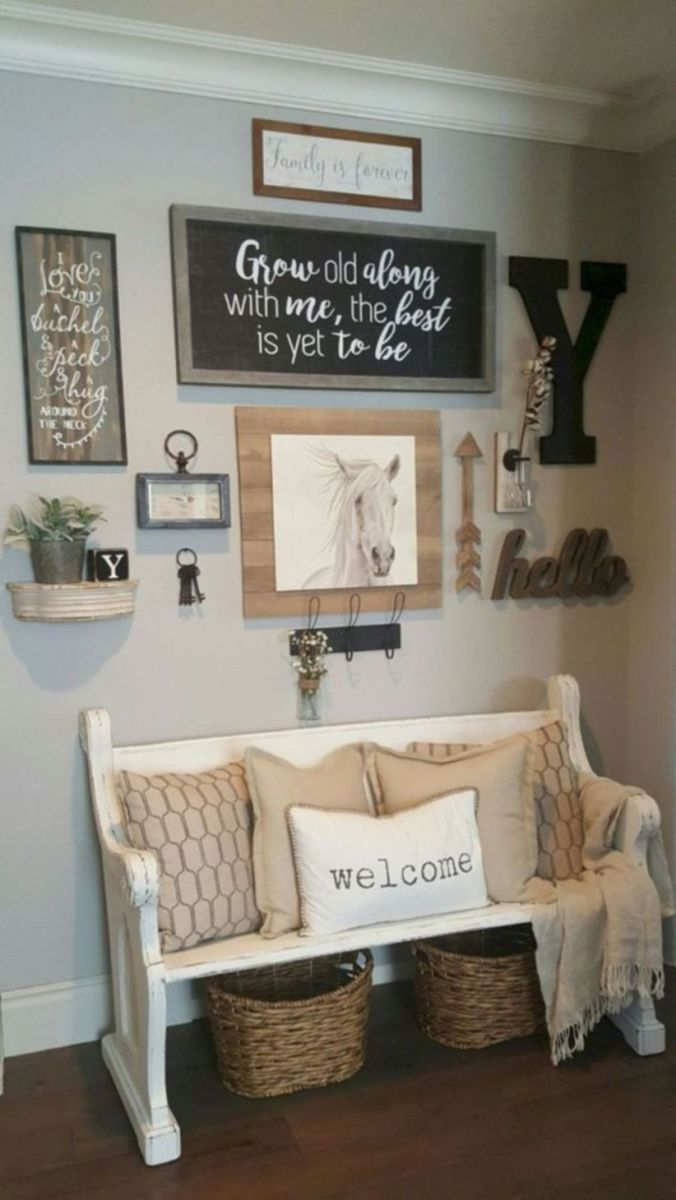 Simply and cozy farmhouse wall decor ideas (6)