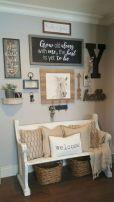 Simply and cozy farmhouse wall decor ideas (6)