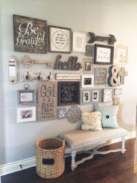 Simply and cozy farmhouse wall decor ideas (8)