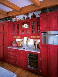 Well passionate red kitchen designs that you must see 04