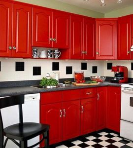Well passionate red kitchen designs that you must see 05