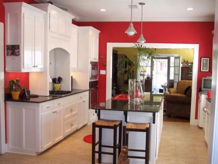 Well passionate red kitchen designs that you must see 06