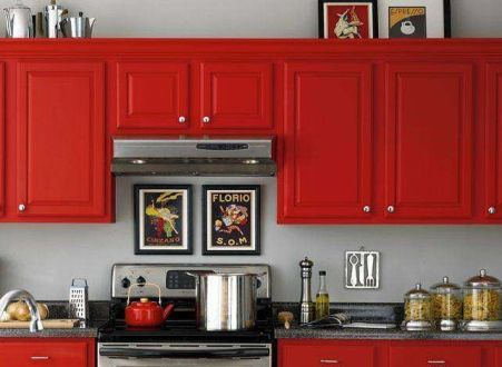 Well passionate red kitchen designs that you must see 10