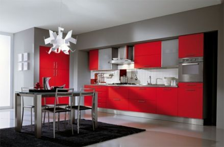 Well passionate red kitchen designs that you must see 15