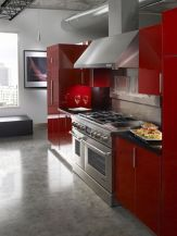Well passionate red kitchen designs that you must see 34