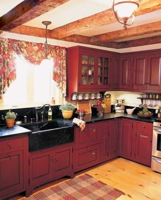 Well passionate red kitchen designs that you must see 36