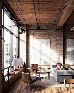 Awesome rustic industrial living room design and decor ideas 02