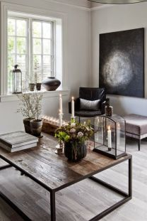 Awesome rustic industrial living room design and decor ideas 05
