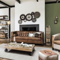 Awesome rustic industrial living room design and decor ideas 09