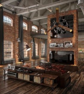 Awesome rustic industrial living room design and decor ideas 26