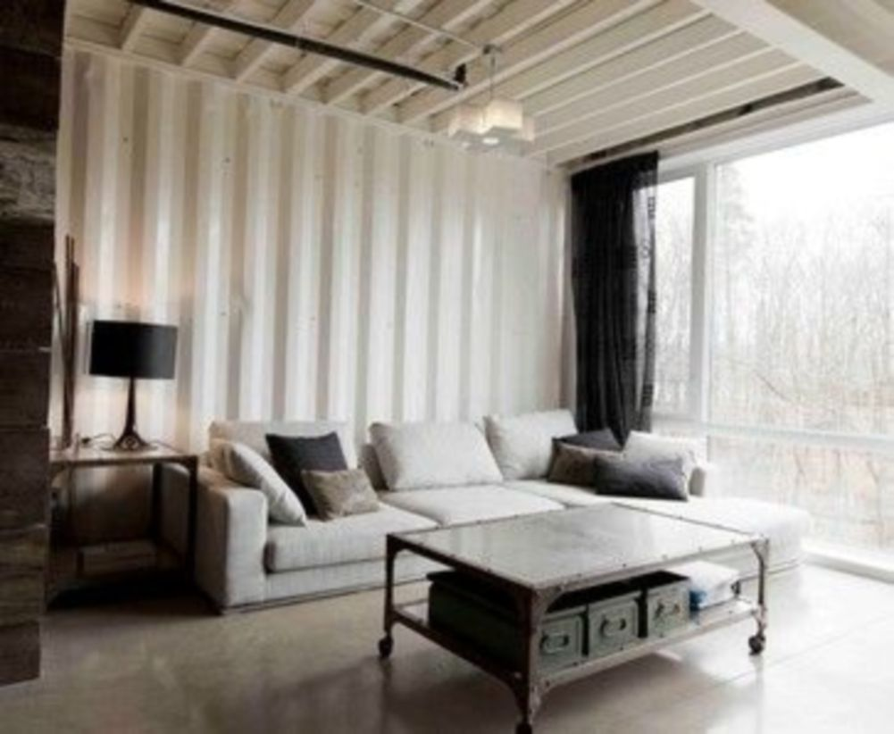 Awesome Rustic Industrial Living Room Design And Decor Ideas 40