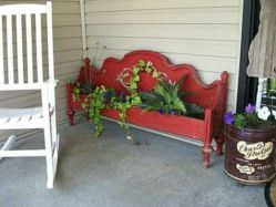 Brilliant garden junk repurposed ideas to create artistic landscaping 32