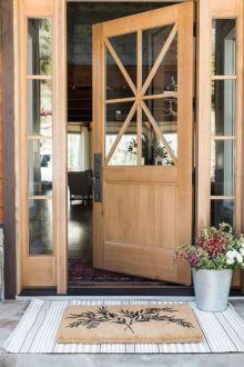 Elegant front door design ideas for your house 12